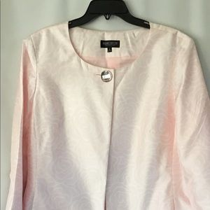 John Meyer Light Pink Long Jacket Size 16.
